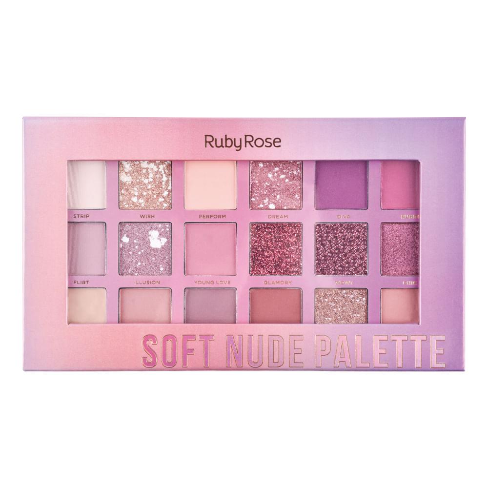 Paleta de Sombras Soft Nude Feels Ruby Rose