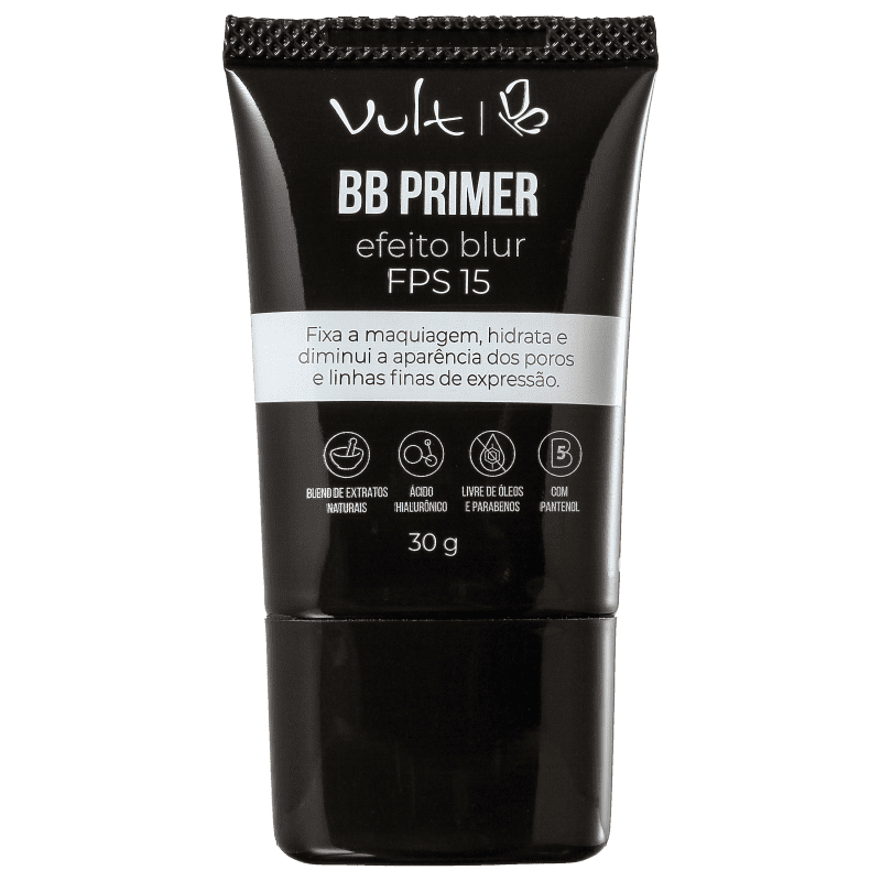 Primer Facial BB Efeito Blur FPS 15 30g - Vult  - Caroline Gil Cosméticos