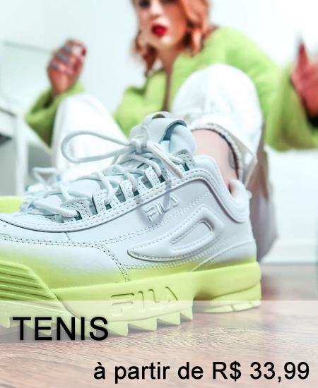 tenis a partir de r$ 59,99