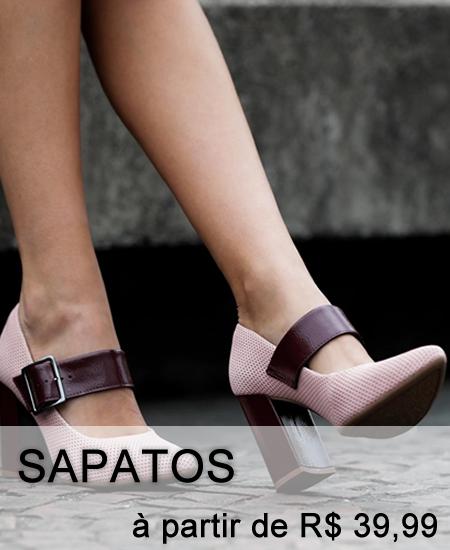 Sapatos a partir de R$ 39,99