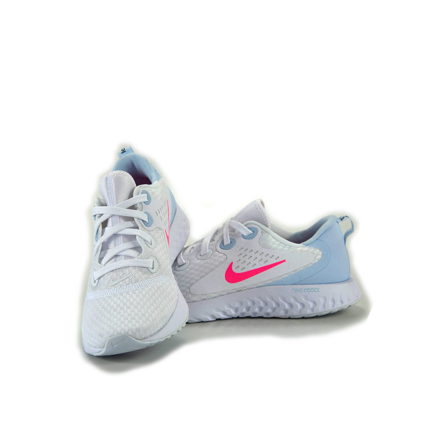 TENIS NIKE WMNS LEGEND REACT WHITE BLUE - AA1626