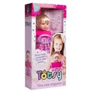 Boneca Totsy 113 Frases Com Cabelo 275 Super Toys