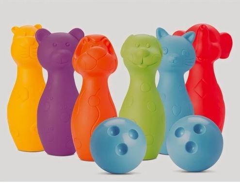 Boliche Coleção Bichinhos Bichos Coloridos Roma Brinquedos