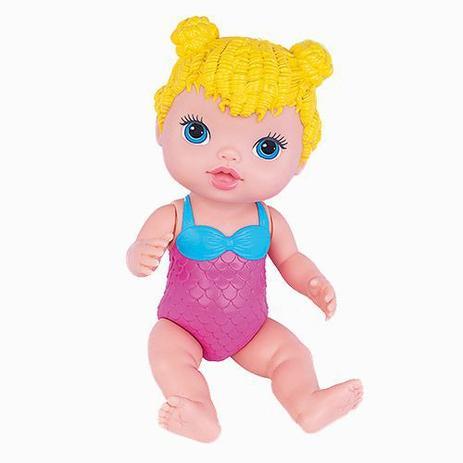 Boneca Babys Collection Alive Sereia Loira Acessorios