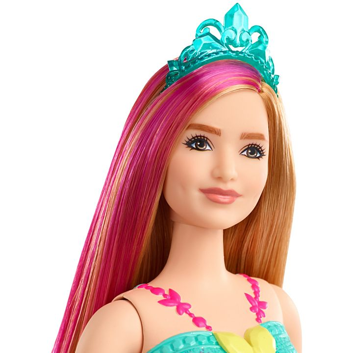 Boneca Barbie ® Dreamtopia Princess - Loira com mecha rosa, curvilínea