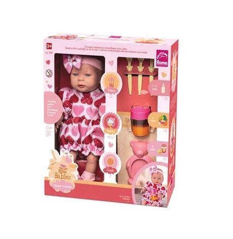 Boneca Bebê Babies Primeiras Comidinhas Roma Brinquedos