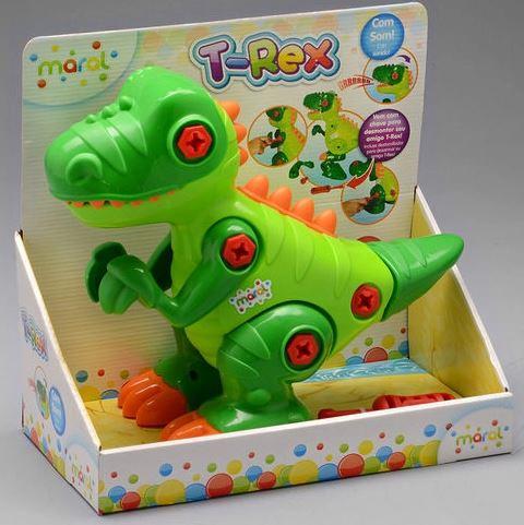 Brinquedo Dinossauro Trex Com Som Maral Caixa