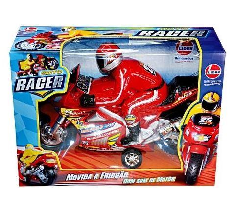 Brinquedo Moto Racer Movida A Fricção Com Som De Motor
