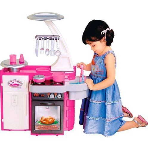 Cozinha Infantil Classic Fogão Pia e Armário Cotiplás