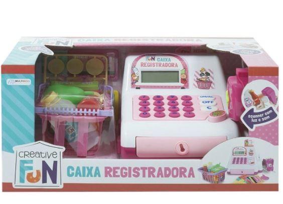 CREATIVE CAIXA REGISTRADORA ROSA