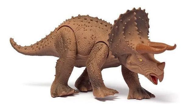 Dinossauro Triceratops 45 cm Dino World com Som - Cotiplás 2089