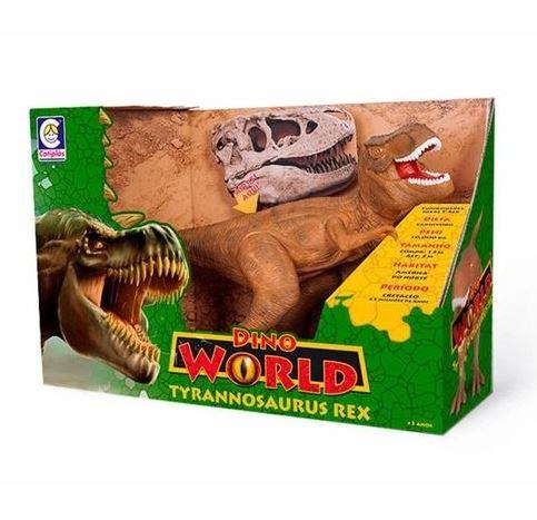 Dinossauro Tyrannosaurus Rex 42 cm Dino World com Som - Cotiplá
