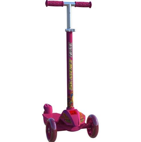 Patinete Skatenet Max Pink Com Led Bandeirante - 1521