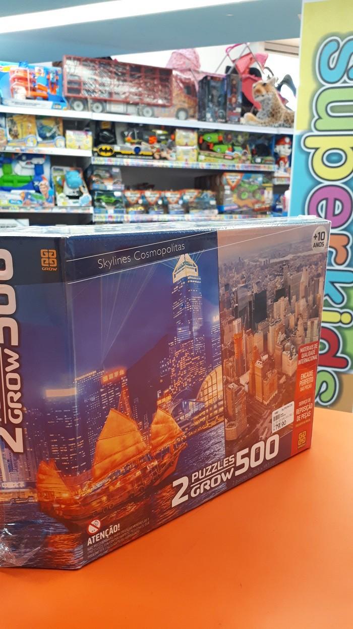 Quebra Cabeça Duplo Skylines Cosmopolitas  500 peças