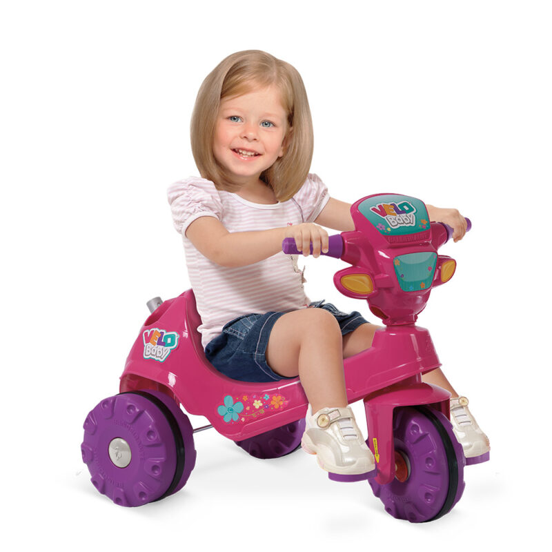 TRICICLO VELOBABY® PASSEIO & PEDAL (ROSA)