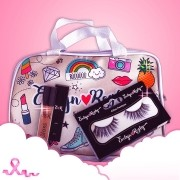 Necessaire + Gloss Glamourosa + Cílios