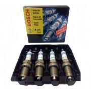 Jogo 4 Velas Ignição SP07 FR6D+ Bosch Clio Logan Scenic 1.6
