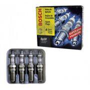 Jogo 4 Velas Ignição SP10 HR7M+U Bosch Ford Zetec Focus