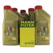 Kit Filtro Óleo A3 2.0 TSI 2009>2013 5W30 Edge Filtro Mann
