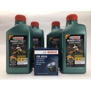 Kit Troca de Óleo Fox/Crossfox/Kombi/Polo Castrol 5w40 502.00 A3/B4 Filtro Bosch 0.986.B00.016