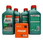 Kit Troca Óleo Agile 1.4 8v Magnatec 5w30 Filtro Fram