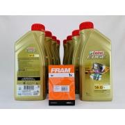 Kit Troca Óleo Amarok 2.0 com 8 litros Edge 5w30 Filtro Fram