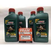 Kit Troca Óleo Fox 1.6 16V Castrol 5W40 508.88 Filtro Fram
