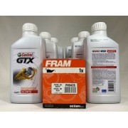 Kit Troca Óleo Omega 4.1 Castrol Gtx 20w50 Filtro Fram