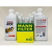 Kit Troca Óleo Omega 4.1 Castrol Gtx 20w50 Filtro Mann