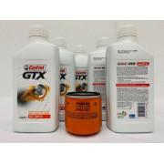 Kit Troca Óleo S10 Blazer 2.2 Castrol Gtx 20w50 Filtro Fram