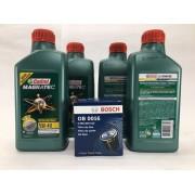 Kit Troca Óleo Saveiro G6 1.6 Castrol 5w40 508.88 Filt Bosch
