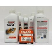 Kit Troca Óleo Vectra 2.2 Castrol Gtx 20w50 Filtro Fram