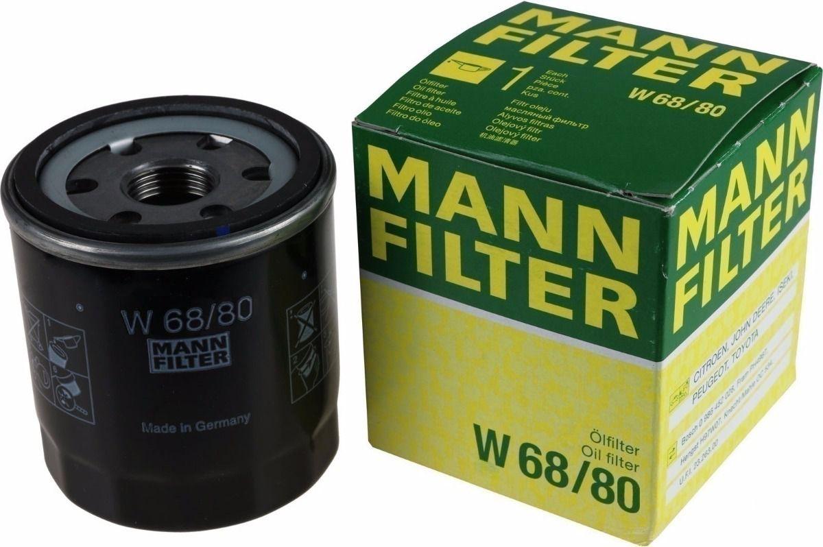 Filtro Óleo Fielder 1.6 1.8 Gasolina Flex Mann W68/80