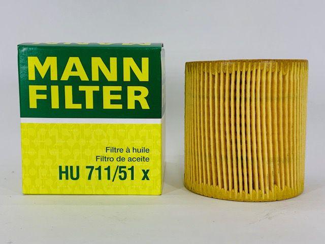Filtro Óleo Mini 1.6 Citroen C3 1.4 Peug 206 Mann HU711/51X