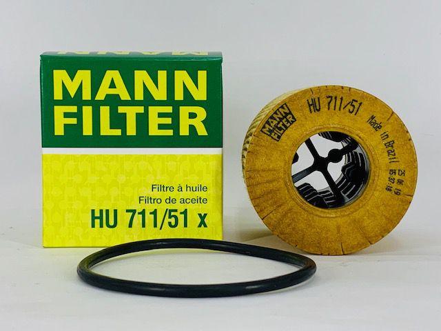 Filtro Óleo Peugeot 207 1.4 8V/ 207 1.6 16V  Mann HU711/51X