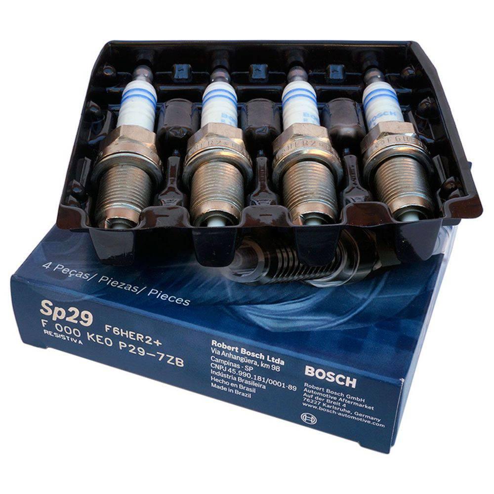 Jogo 4 Velas Ignição SP29 - F6HER2  Bosch Golf 1.6 Fox Polo