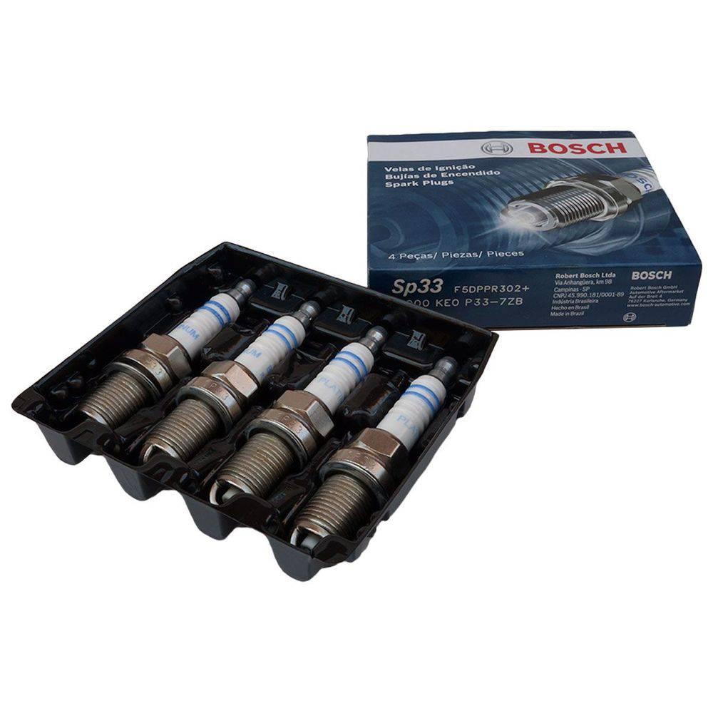 Jogo 4 Velas Ignição SP33 F5DPPR302+ Bosch Gol Voyag Fox 1.0