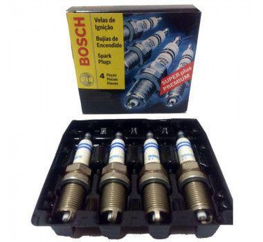 Jogo 4 Velas Ignição SP43 WR7KC+ Bosch Meriva/Omega/Montana