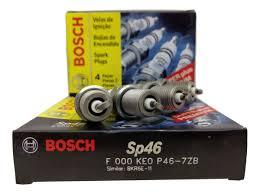 Jogo 4 Velas Ignição SP46 - FR6DCX+ Bosch Honda Fit 1.4 Flex