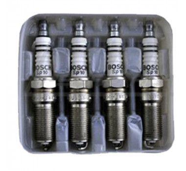 Jogo 4 Velas Ignição SP49 - FQR6DCW+ - F000KE0P49 - Bosch Megane/Scenic/Sandero/Duster/Clio