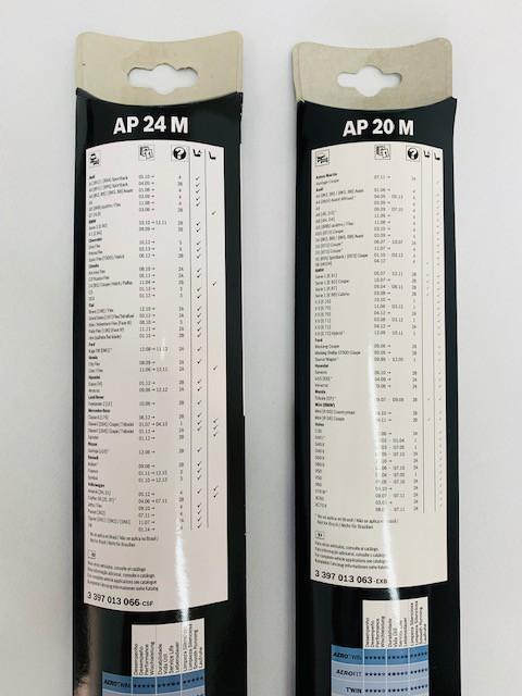 Kit Palheta Limpador Freelander 2 2006>2014 AP24M+AP20M Bosch