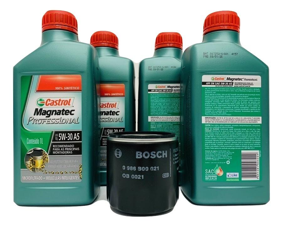 Kit Troca Óleo Agile 1.4 8v Magnatec 5w30 Filtro Bosch