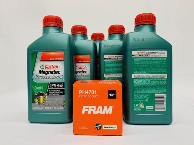 Kit troca Óleo Astra 2.0 8V Flex Magnatec 5W30 Filtro Fram