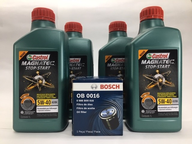 Kit Troca Óleo Saveiro 1.6 Ger V Castrol 5w40 Filtro Bosch