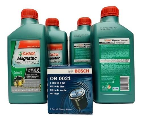 Kit Troca Óleo Spin 1.8 8v Flex Magnatec 5w30 Filtro Bosch