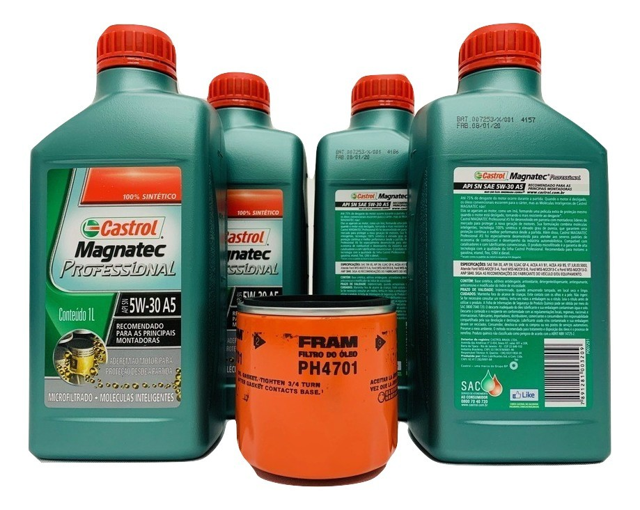 Kit Troca Óleo Spin 1.8 8v Flex Magnatec 5w30 Filtro Fram