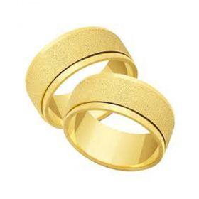 Alianças de Casamento de Ouro 7.0mm Giratória Grosseto - AL522