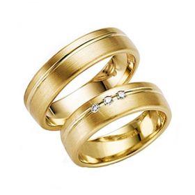Alianças de Casamento de Ouro 5.0mm com Friso e Zircônias Livorno  - AL538