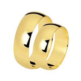 Alianças de Casamento de Ouro Tradicional 7.0mm - AL577