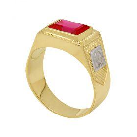 Anel Formatura de Ouro 18k com Emblemas - AF2500